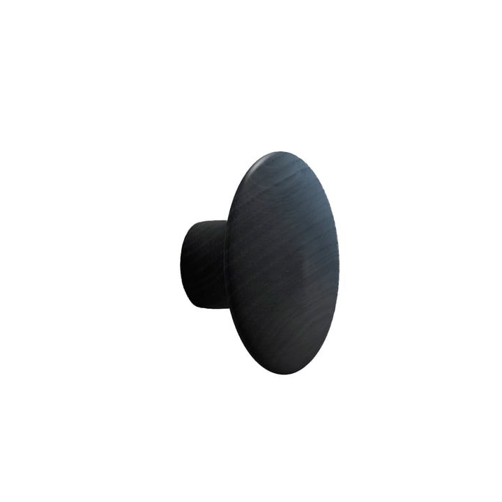"Wall hook ""The Dots"" single small by Muuto in black"