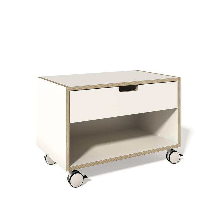 Müller Möbelwerkstätten - bedside table modular, white/mutliplex
