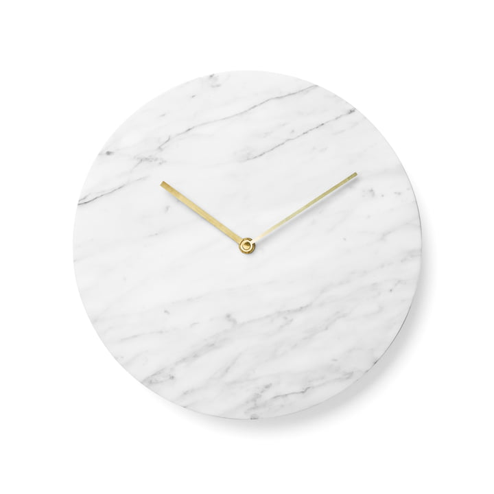 Menu - Marble Wall Clock, white