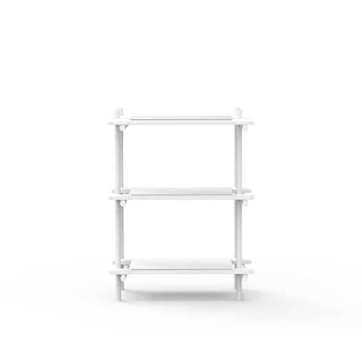 Menu - Stick System, shelf, white / white, 1 x 3