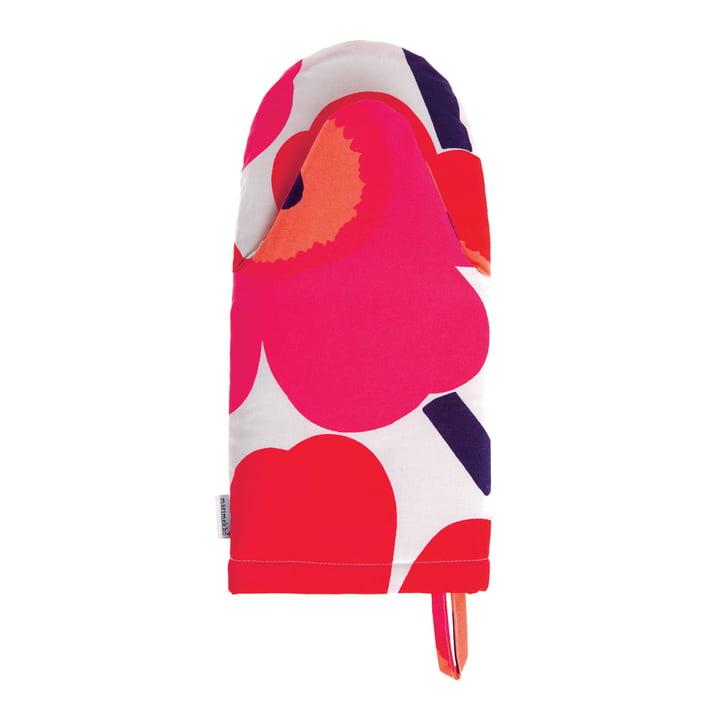 Pieni Unikko Oven Glove by Marimekko in White /Fuchsia /Red
