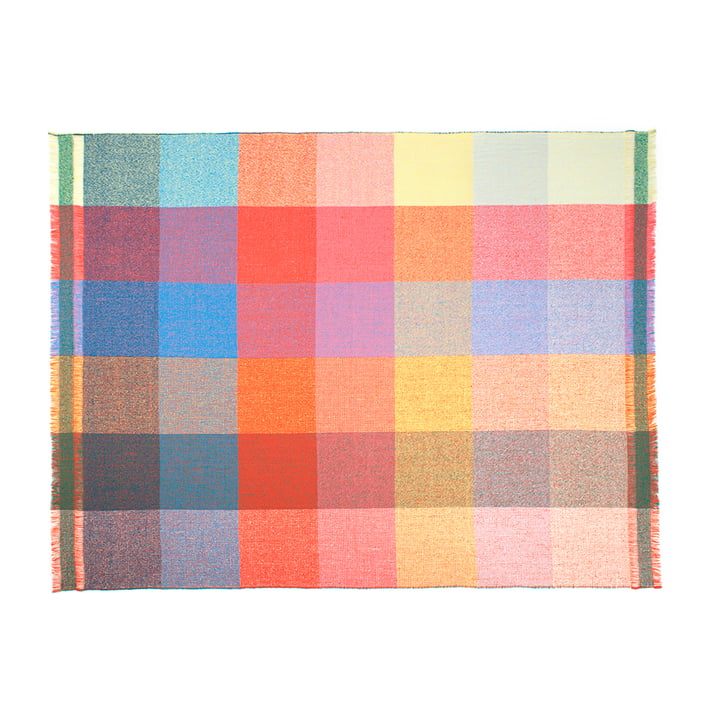 Zuzunaga - Squares woollen blanket, 140 x 180 cm
