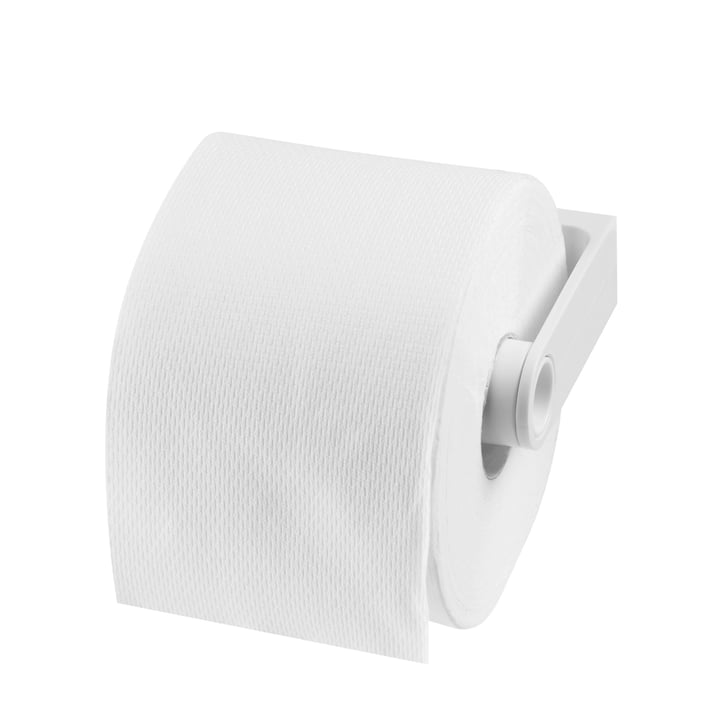Authentics - Lunar toilet paper holder, white - with paper