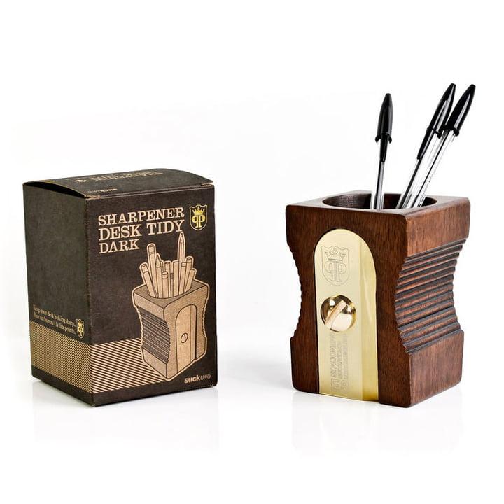 Suck UK - Sharpener Desk Tidy, single, dark - with packaging