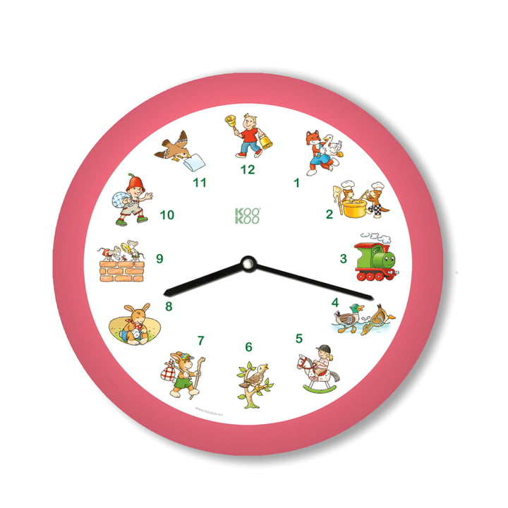 KooKoo - Children's Songs Wall Clock, pink