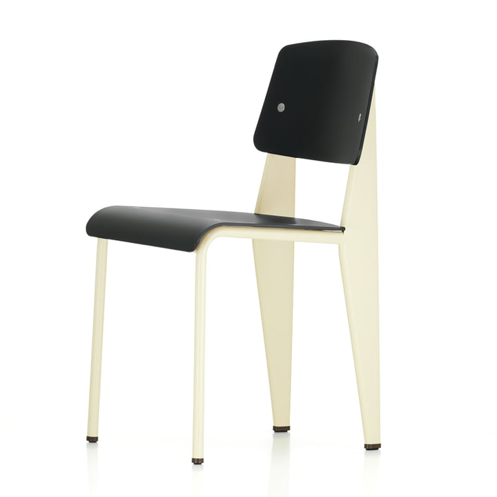 Vitra - Prouvé Standard SP Chair, ecru / black