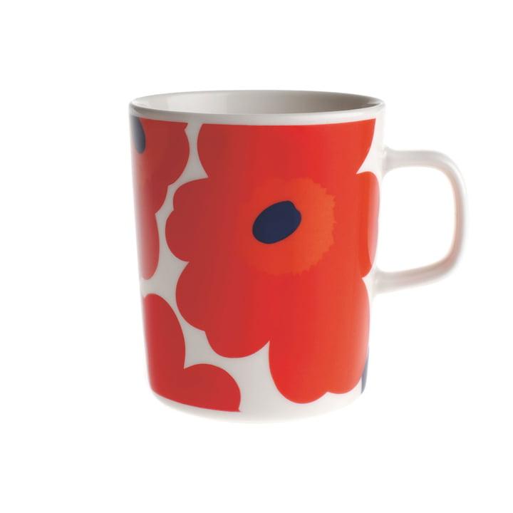 Marimekko - Pieni Unikko Cup with handle, white / red