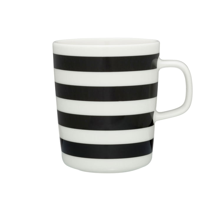 Marimekko - Tasaraita mug with handle, yellow / black
