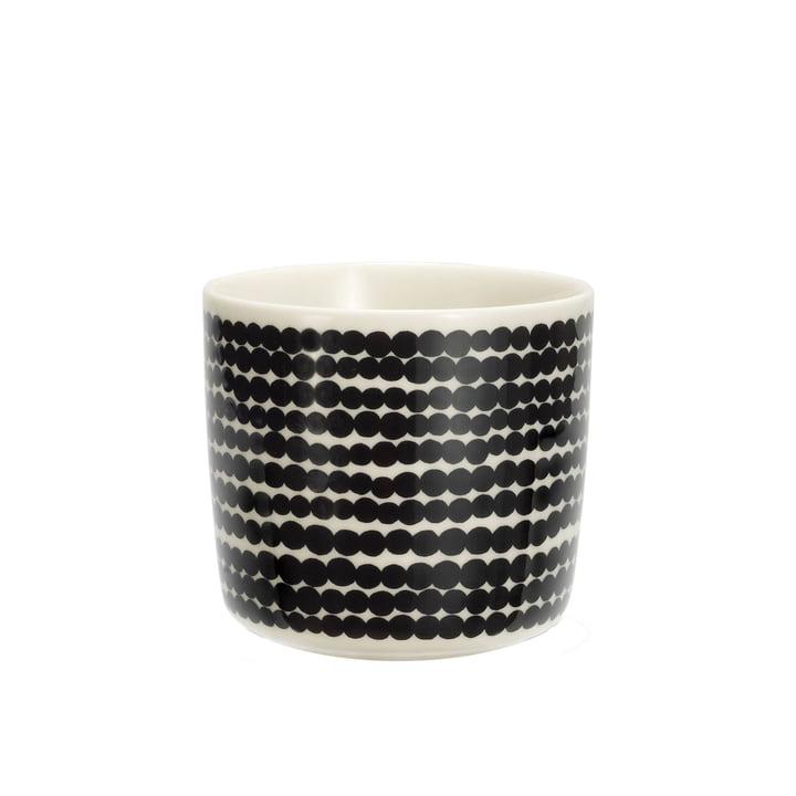 Marimekko - Oiva Räsymatto Kaffeebecher schwarz / weiß