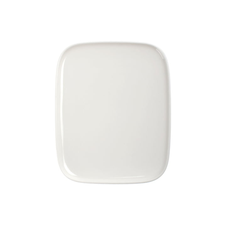 Plate, 15 x 12 cm, white by Marimekko