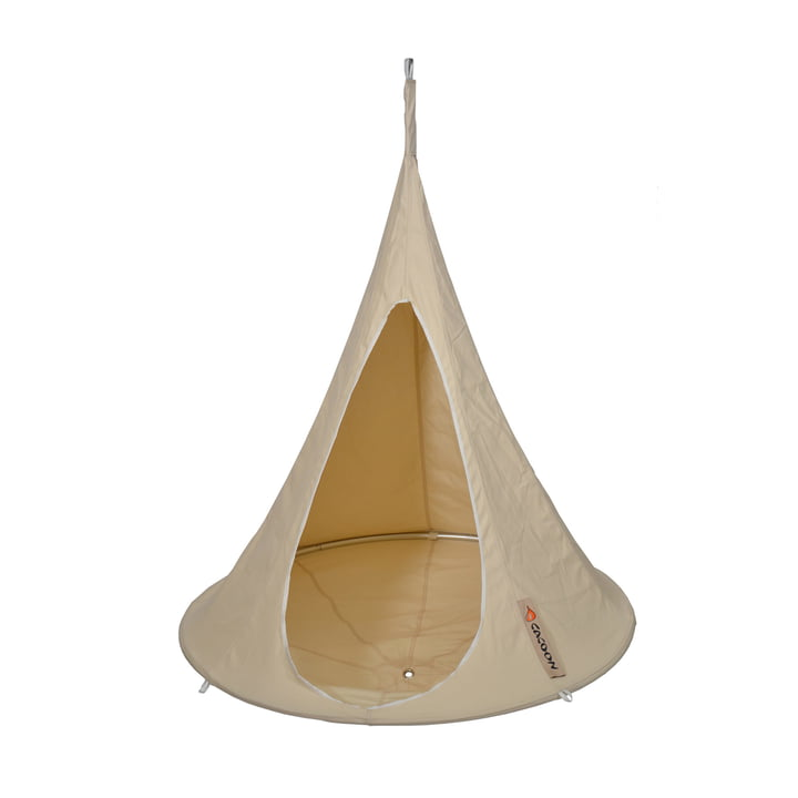 Bebo hanging chair, natural white by Cacoon