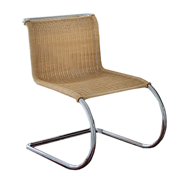 Knoll - MR side chair, without armrests, Rattan seat