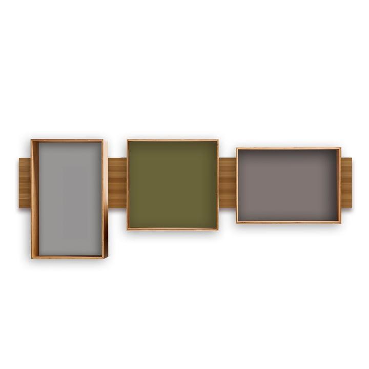 We do wood - SJ Bookcase Midi (olive, cool grey, dark grey)