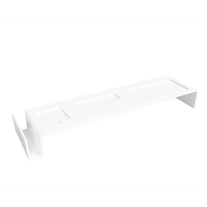 Müller Möbelwerkstätten - Deskbridge Aluminium, white, small