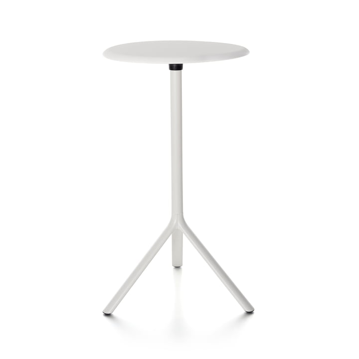 Plank - Miura Table, height 109 cm, metal tabletop, white