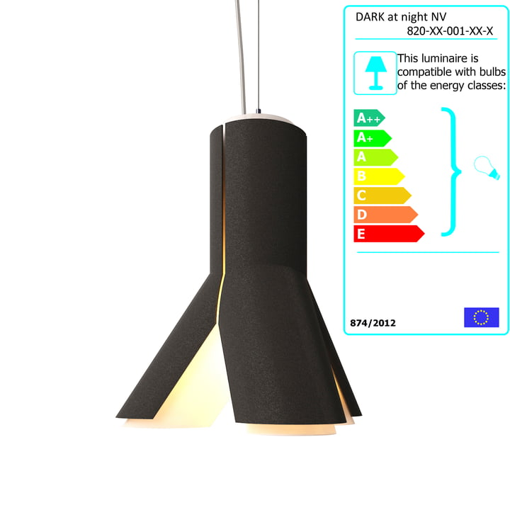 Dark - Boky Pendant Lamp, black / white