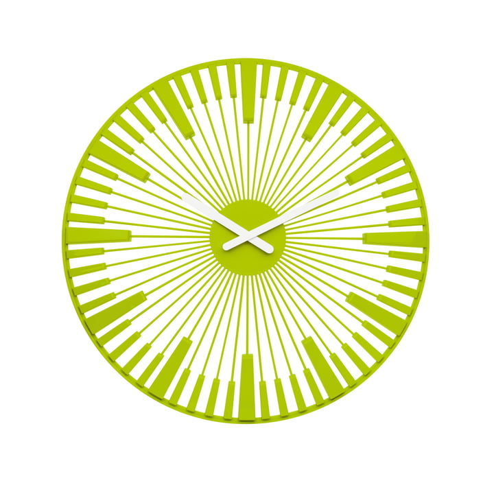 Koziol - Piano Wall Clock, green