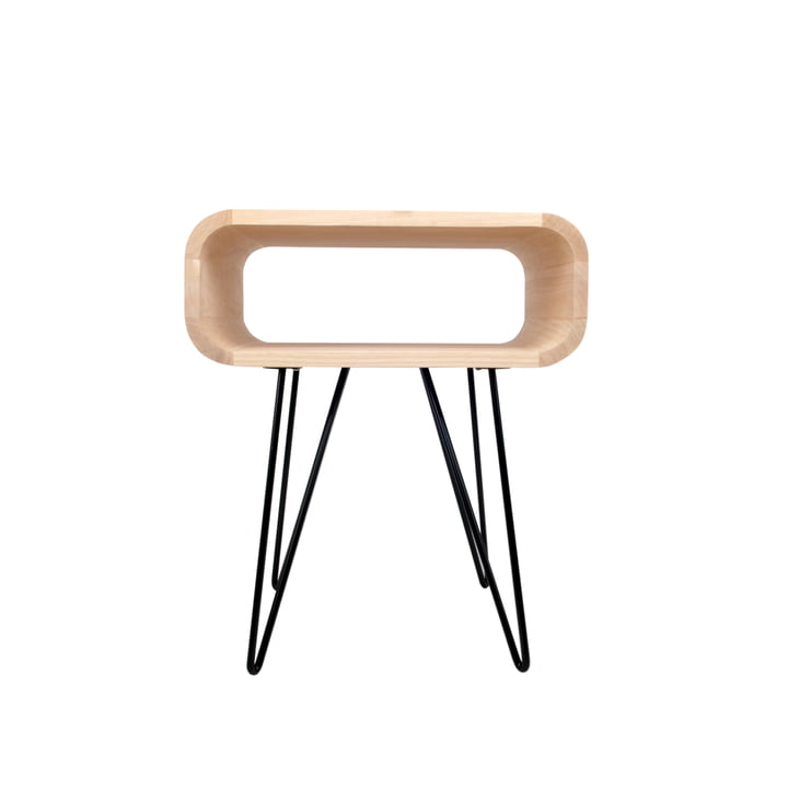 End Table, wood / black from XLBoom