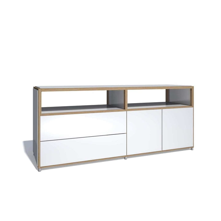 Flötotto - ADD Sideboard, 2 doors, 2 drawers, white melamine