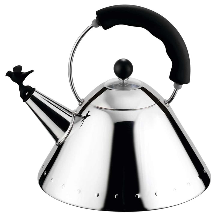 "Alessi - Kettle 9093 B ""Bird Kettle"", polished / black"