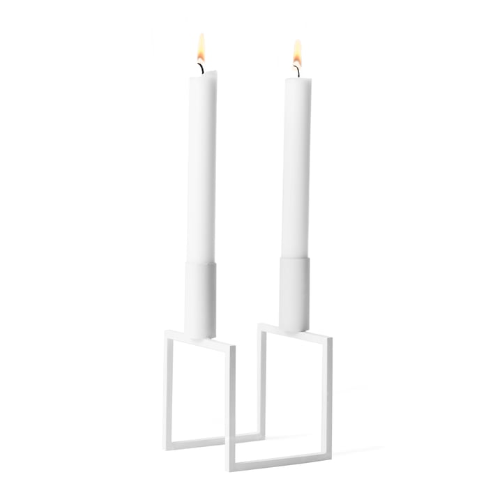 Line Candleholder from by Lassen in white