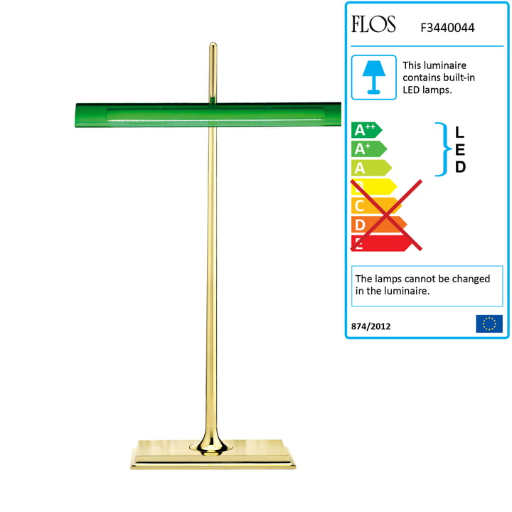 Flos - Goldman table lamp, brass, green