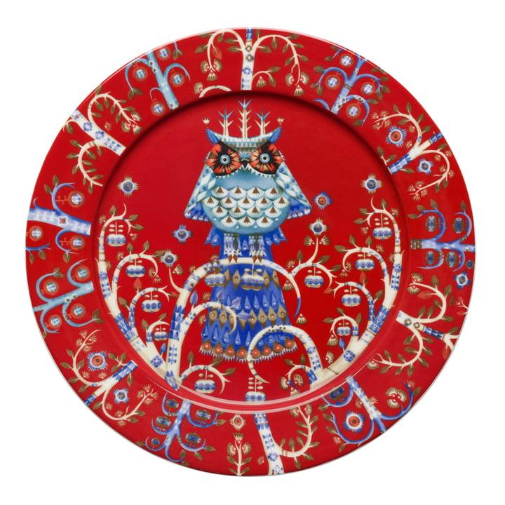 Iittala - Taika flat plate, red Ø 27 cm