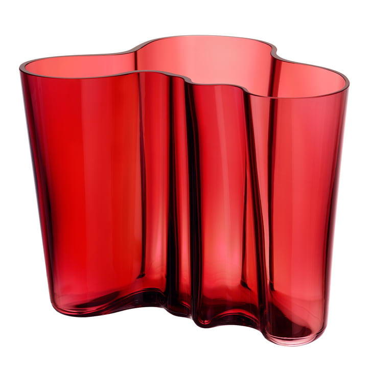 Iittala - Aalto Vase Savoy, cranberry red 160 mm