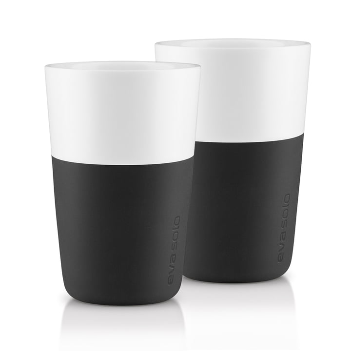 Caffé Latte cups (set of 2) by Eva Solo in black