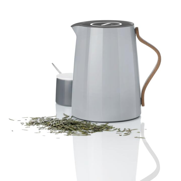Stelton - Emma Vacuum Teapot, grey and Sugar Bowl