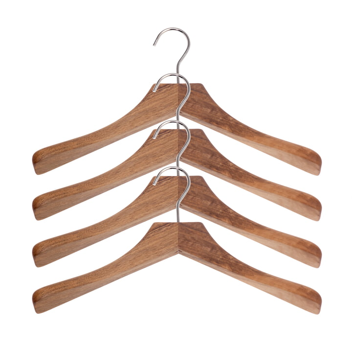 Schönbuch - 0112 clothes hangers, set of 4, natural oak