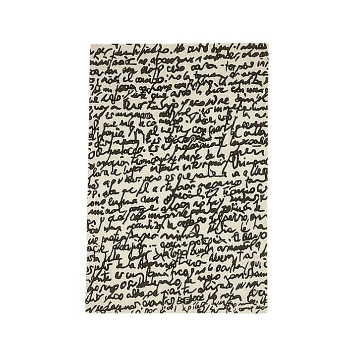"nanimarquina - Black on white Carpet ""Manuscrit"" 170x240 cm"
