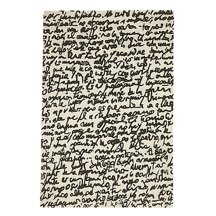 "nanimarquina - Black on white Carpet ""Manuscrit"" 200x300 cm"
