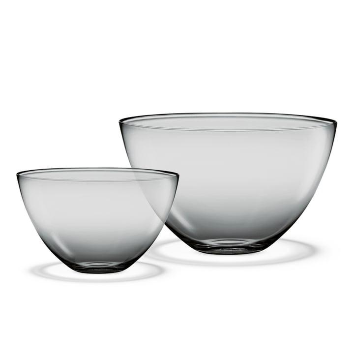 Holmegaard - Cocoon Bowls, smoke