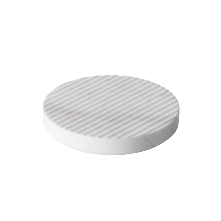 Groove Marble Trivet Ø 16 by Muuto in White