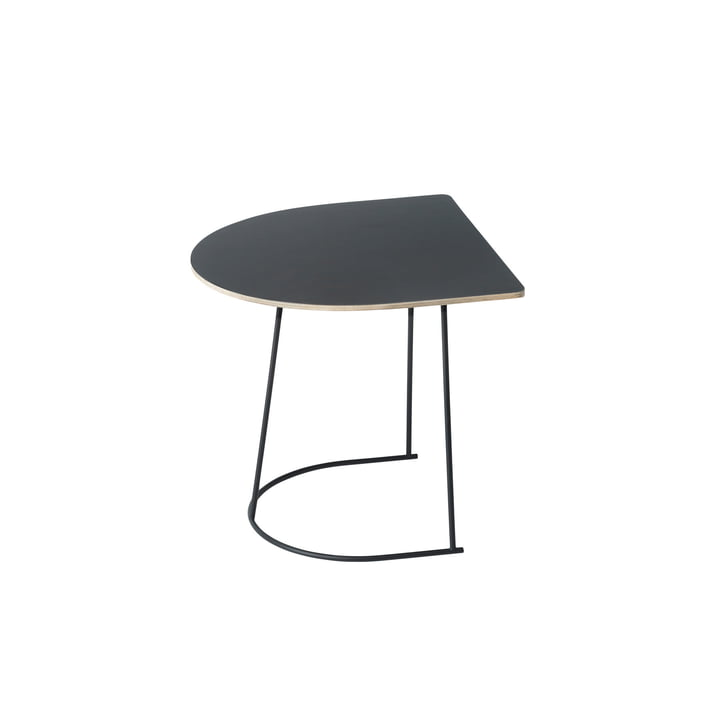 The Airy Coffee Table by Muuto Half Size in Black