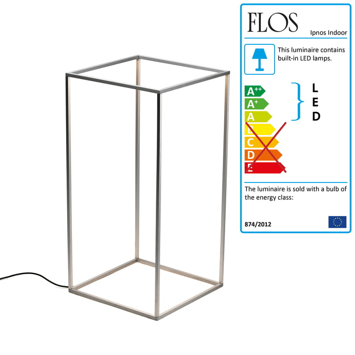 Flos - Ipnos Indoor Floor light, silver anodized