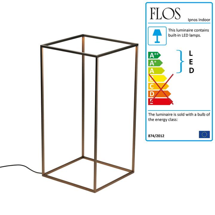 Flos - Ipnos Indoor bulkhead luminaire, bronze