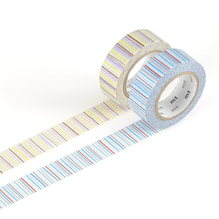 Masking tape - 2P deco serie shima/ ao, murasaki (Set of 2)