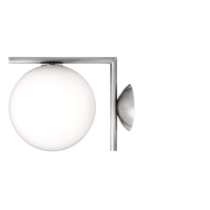 Flos - IC C/W1 BRO Ceiling- and Wall Lamp, chrome