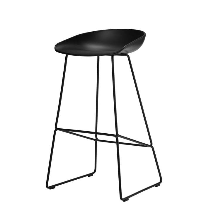 About A Stool AAS 38 bar stool H 85 by Hay in black