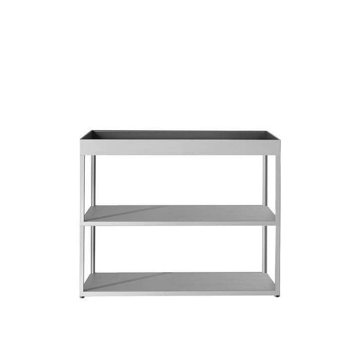 Hay - New Order Sideboard, open with shelf, light grey