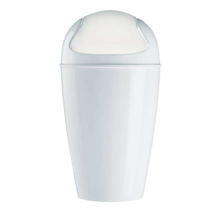 Koziol - DEL XL Dustbin with swinging lid, 30 l, white