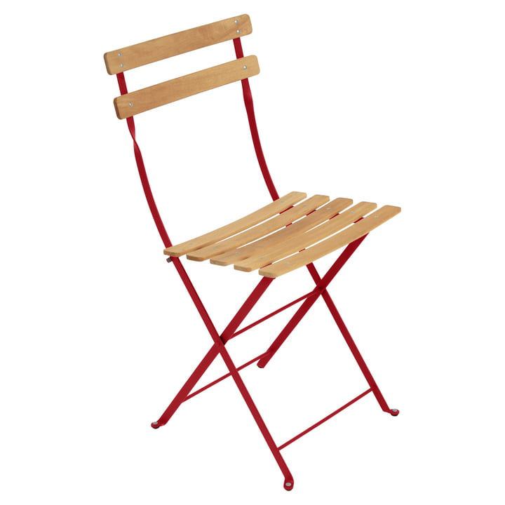 Bistro Natural Folding Chair by Fermob in poppy