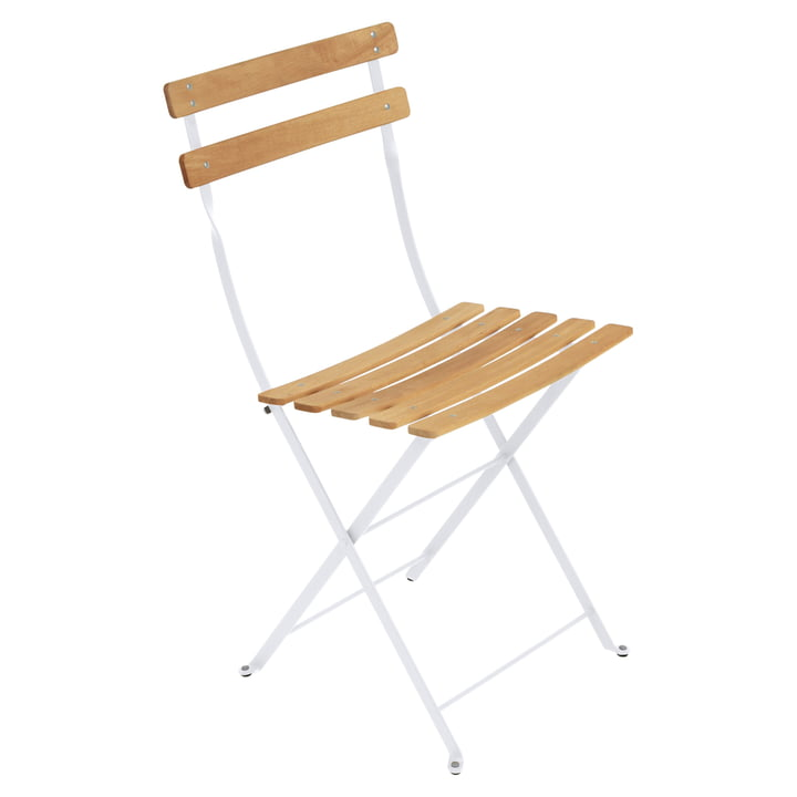 Bistro Natural Folding Chair by Fermob in cotton white