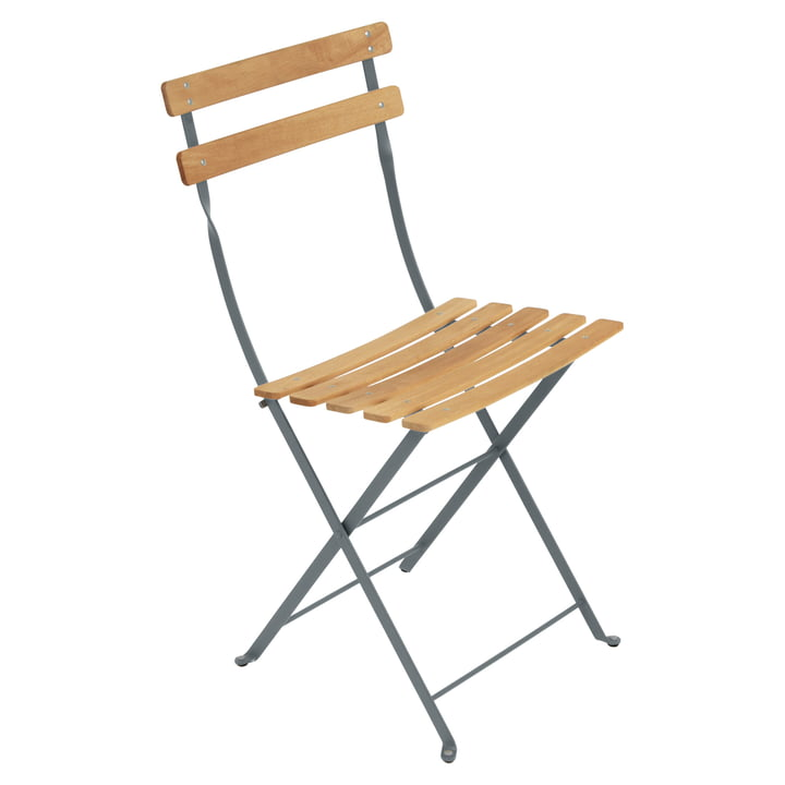 Bistro Natural Folding Chair by Fermob in storm grey
