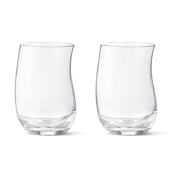 Georg Jensen - Cobra Drinking Glass 0.35 l (set of 2 ), free