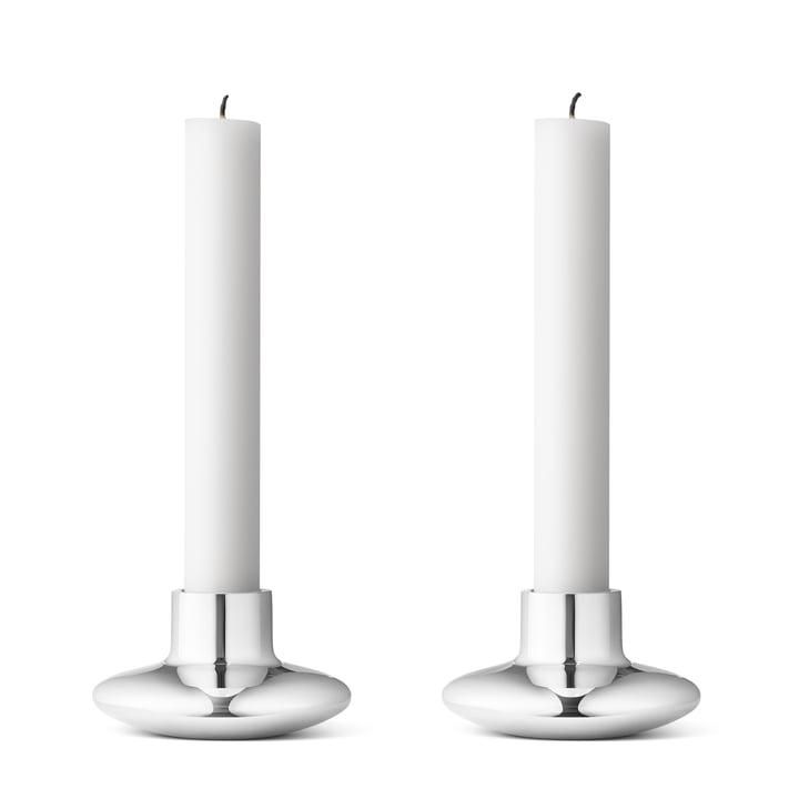 Georg Jensen - Henning Koppel Candlestick (set of 2), stainless steel