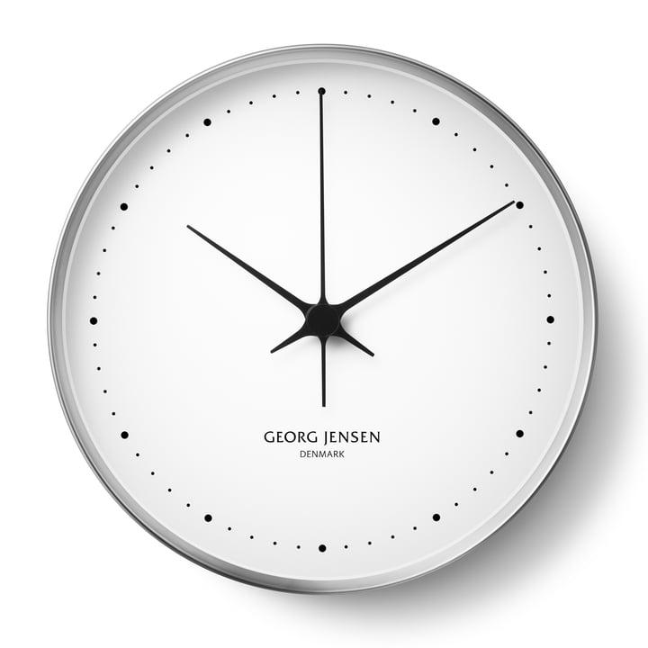 Georg Jensen - Henning Koppel Wall Clock Ø 30cm, stainless steel / white