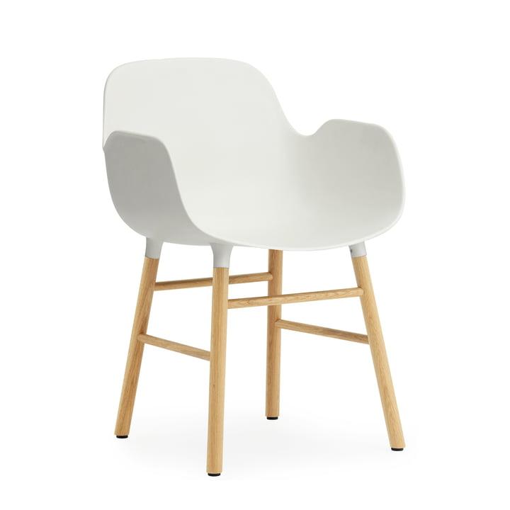 Form Armchair by Normann Copenhagen made from oak in white